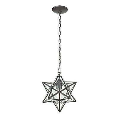 Sterling Home 145-001 Star 1 Light Glass Pendant Lamp