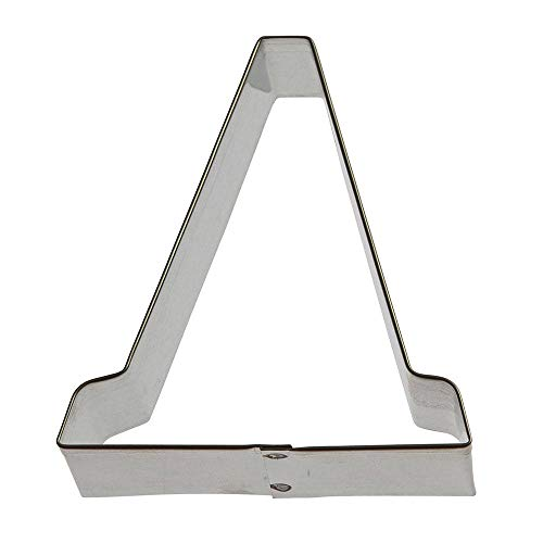 (Traffic Cone Cookie Cutter 3.5 in B1634 - Foose Cookie Cutters - USA Tin Plate)