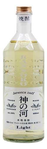 麦焼酎 20度 神の河 Light 600ml 瓶 × 12本 (かんのこ ライト) 薩摩酒造 B07CZYMFKC