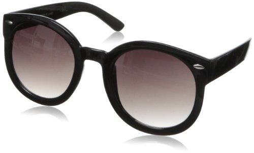 MLC Eyewear Women's Trendy Retro Round Shades Round Sunglasses,Black,60 - 2014 Sunglasses Trendy