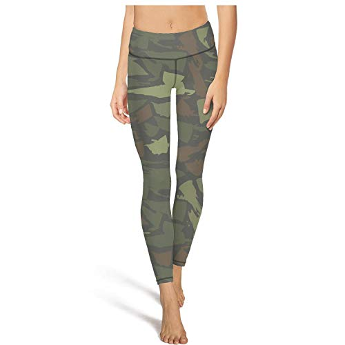 Army Camo Camouflage Military Leggins High Waisted Yoga Pants Sports Dance Footless Leggings Pockets Anti-Wrinkle