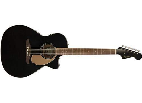 Fender Newporter Player – California Series Acoustic Guitar – Jetty Black Finish