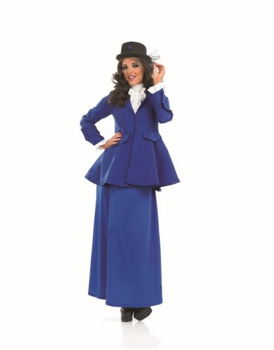 Mary Poppins Victorian Female Fancy Dress Costume - L (US (Mary Poppins Costume Uk)