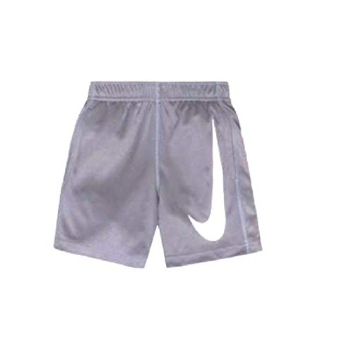(NIKE Toddler Kids Boys Performance Big Swoosh Shorts Cool Grey White 2T)