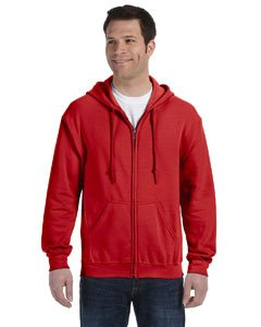 Red Full Zip Hoodie - Gildan mens Heavy Blend 8 oz. 50/50 Full-Zip Hood(G186)-RED-M