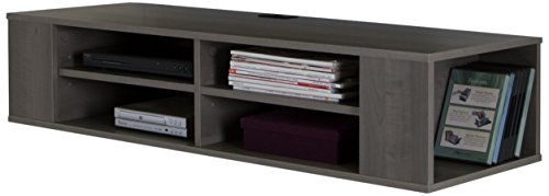 South Shore City Life 48'' Wide Wall Mounted Media Console, Gray Maple (Stand Tv Maple Modern)