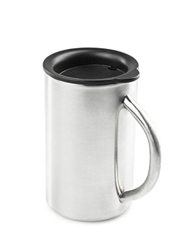Glacier Stainless Steel Percolator - GSI Outdoors Glacier Camp Stainless Cup, Stainless, 15 fl oz