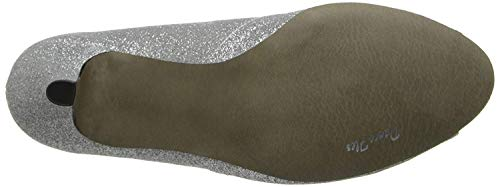 Easy Glitter Peep Street Toe Klassische Silver Ravish Frauen Pumps Sr7Sq4