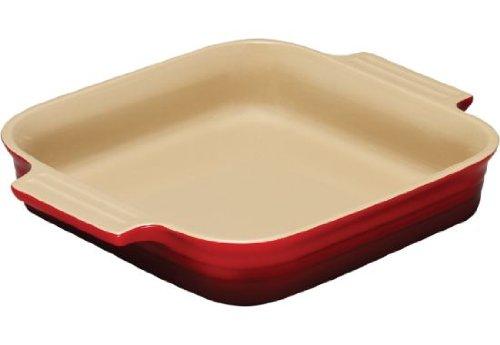 Le Creuset Stoneware 1-1/2-Quart 9-Inch Square Baking Dish, Cherry