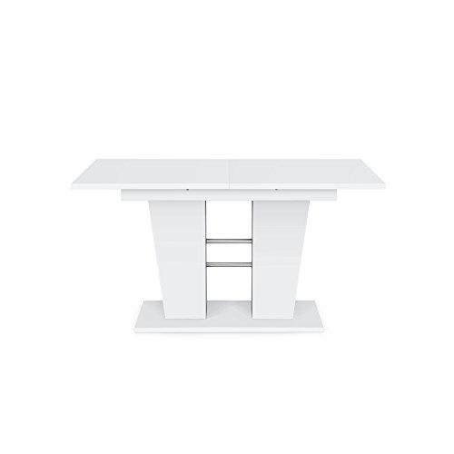 Breda Esstisch Esszimmertisch Tisch Weiß 140(180) x 75 x 90 cm ausziehbar