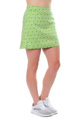 Haute Shot Golf Ladies Skort - Cotton/Spandex with Pockets (Green, 4)