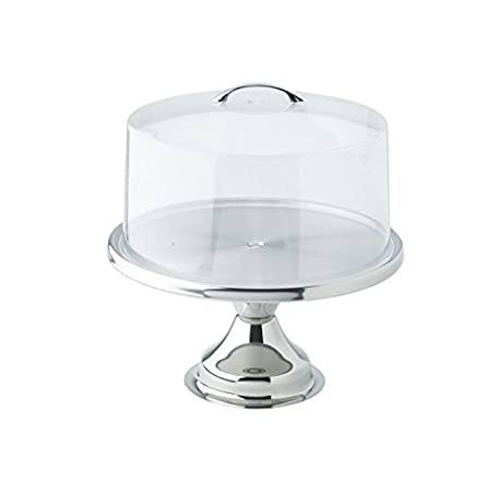 Strange Winco 13Inch Stainless Steel Cake Stand Cks 13 With Matching Funny Birthday Cards Online Overcheapnameinfo