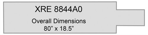 - Radiolucent X-Ray Specialty Table Pad - XRE 8844A0, Overall Dimensions 80