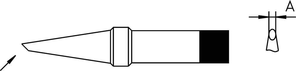 abgeschr/ägt Spitzen-Gr/ö/ße 1.6 mm Inhalt 1 St. Weller 4PTAA8-1 L/ötspitze Rundform