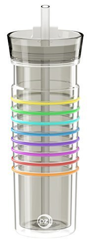Zak! Designs HydraTrak Insulated Tumbler with Straw, BPA-free, 20 oz., Ghost Grey by Zak Designs by Zak! Designs