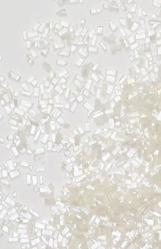 White Decorating Sparkle Gem Colored Sugar Crystals for Cakes and Cupcakes, 6 oz, Diamond