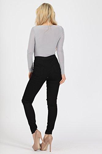 London Jeans Noir Femme Missi noir wqTZvaU