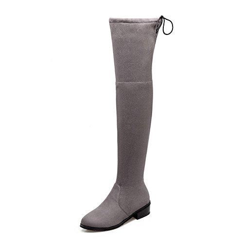 Boots Pull BalaMasa On Boots Solid Polartec Womens Fleece Gray Casual xIwPqr8I