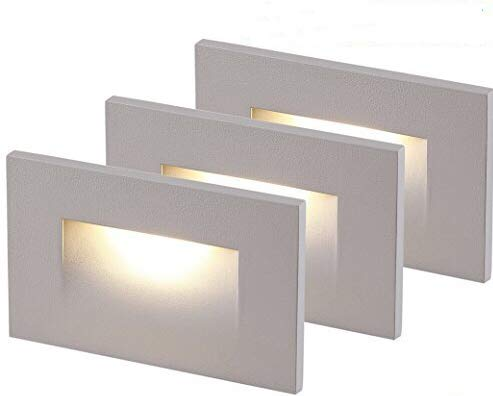 Cloudy Bay LED Indoor Outdoor Step Light,3-Pack,3000K Warm White,Stair Light,White Finish by Cloudy Bay (Image #2)
