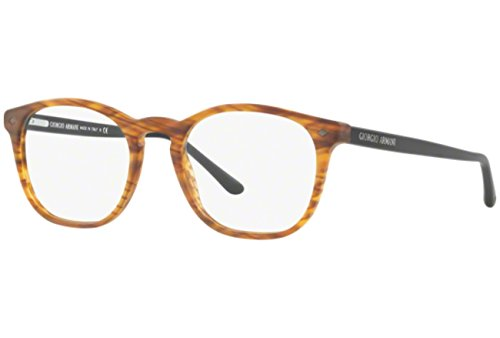 Eyeglasses Giorgio Armani AR 7074 5562 MATTE STRIPED LIGHT BROWN