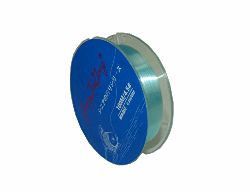 JiangTaiGong Monofilament Fishing Line,Superior Mono Nylon Fish Line Great Substitute for Fluorocarbon Fishs Line, 100 Meters Abrasion Resistant Fly Fishing Line for Freshwater(Blue)