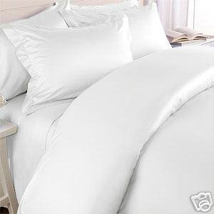 Solid White 550 Thread Count Twin Size Duvet Cover Set 100 % Egyptian Cotton with matching pillow sham