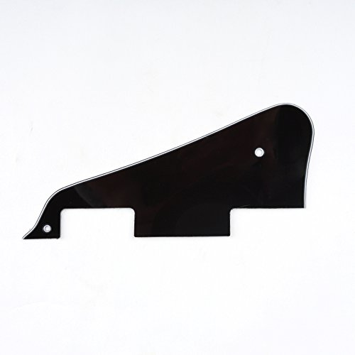 Gibson Custom Les Paul Guitar (Musiclily Electric Guitar Pickguard for Epiphone Les Paul Modern Style, 3Ply Black)