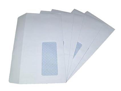 100 x DL Window White SELF SEAL Envelopes 110x220mm, 90gsm GP Globe Packaging