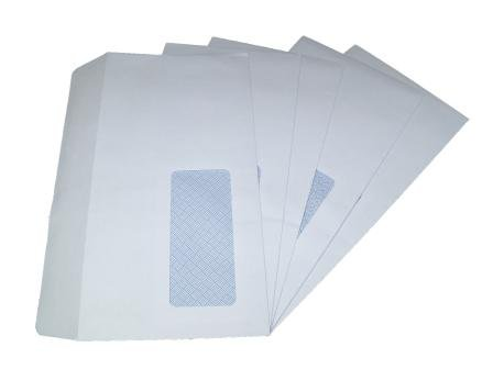 100 x DL WINDOW WHITE SELF SEAL ENVELOPES 110x220mm, 90gsm globe