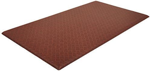 AmazonBasics Premium Anti-Fatigue Standing Comfort Mat for Home and Office - 20x36-Inches, Light Brown