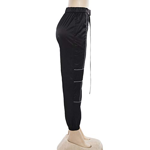 La Mode Travail A Casual Reflechissant Élégant Sexy Femme Susenstone Noir Pantalon Ete Pants De Pas Salopette Cher Elastique Chic qpPpHwvx