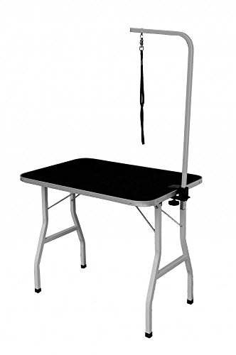 BestPet Large Adjustable Pet Dog Grooming Table W/Arm/Noose
