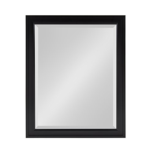 DesignOvation Bosc Framed Decorative Rectangle Wall Mirror, 21.5 x 27.5, Black by DesignOvation