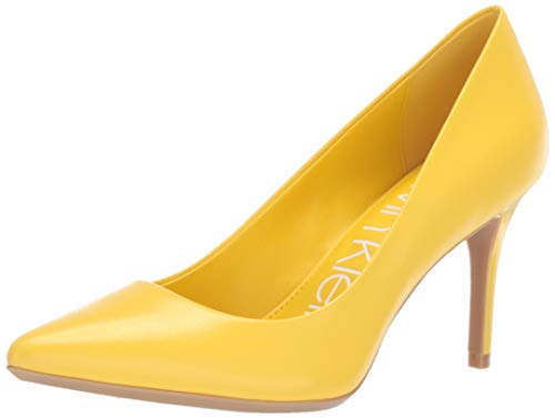 Calvin Klein Women's Gayle Pump, Lemon kidskin, 7.5 M M US