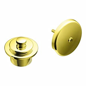 Moen T90331P Tub Drain Kit with Push-N-Lock Drain Assembly, Polished Brass