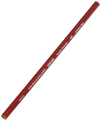 Prismacolor Verithin Colored Pencil, Crimson Red, (Pack of 12) Dixon Erasable Colored Pencils