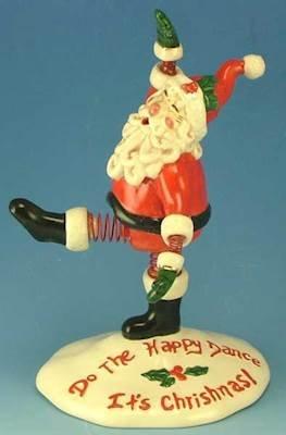 Heather Goldminc Santa Happy Dance Bobble - Clayworks Blue Sky 2006 by Heather Goldminc (Image #1)