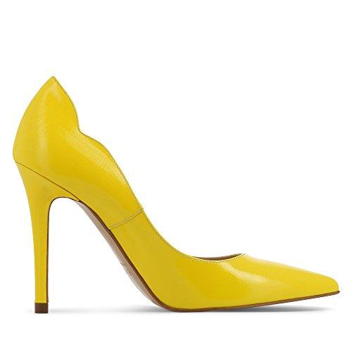 Evita Shoes - Zapatos de vestir de Piel para mujer Amarillo - amarillo