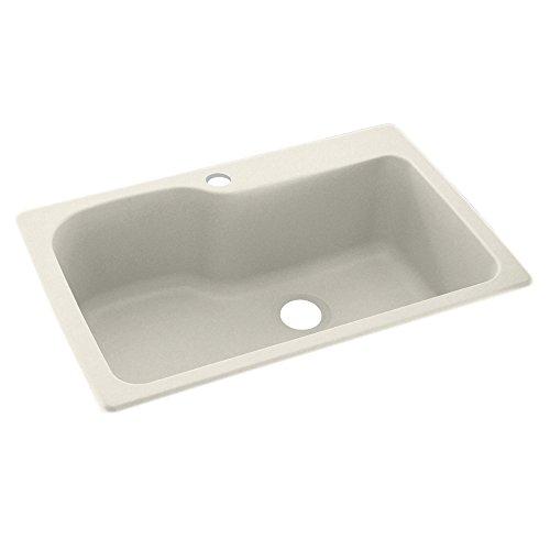 Swanstone KS03322SB.121 1 Hole Solid Surface Kitchen Sink, 33
