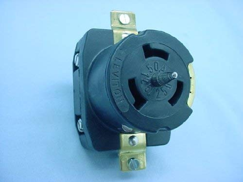 Leviton CS6369 Locking Receptacle 50A 125/250VAC 3-Pole 4-Wire Flush Mount - Black [並行輸入品]   B07NBL75Y7