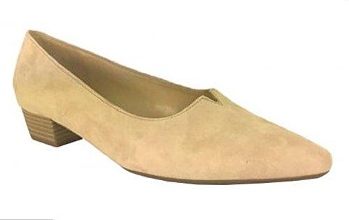 Gabor Shoes Fashion, Zapatos de Tacón para Mujer Beige Suede