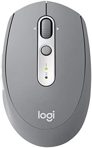 Logitech M585 Multi-Device Wireless Mouse – Control and Move Text/Images/Files Between 2 Windows and Apple Mac Computers and laptops with Bluetooth or USB, 2 Year Battery Life, Gray