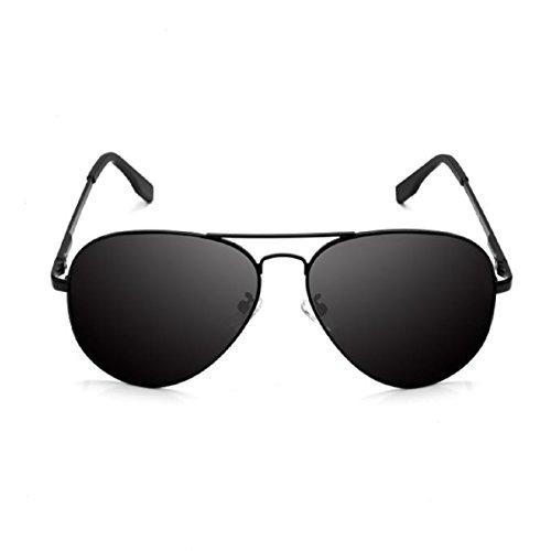 Feililong Prämie Voll Mirrored Pilotenbrille Flieger Sonnenbrille UV400 Schutz Optimal Entwurf Herren und Frauen Aviator Sonnenbrillen (Schwarze Linse / Schwarze Rahmen)