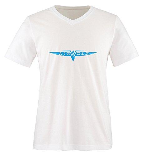 Air shirt wolf bleu Manches Blanc Blanc T Courtes Homme qrqwfFE