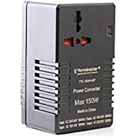 AC to AC 220-240V to 110-120V Dual Voltage Converter Adapter With Multi Travel Plug and Socket 150W - Terminator