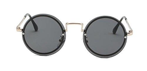 métallique Frêne du retro soleil inspirées polarisées rond style de Noir Lennon vintage lunettes en cercle gUKRqFyca