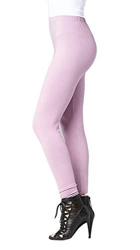 Premium Ultra Soft High Waist Leggings for Women - SL1 Lavender - Large/X-Large