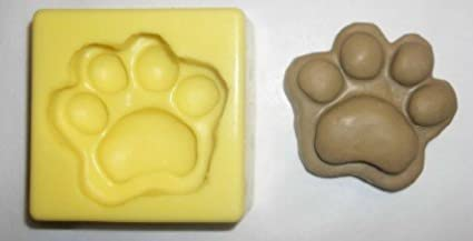 Paw Print Soap and Candle Mold Flexiblemolds