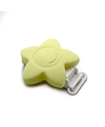 RUBY - 1 Pinza de silicona, clip estrella cara feliz, pinza ...