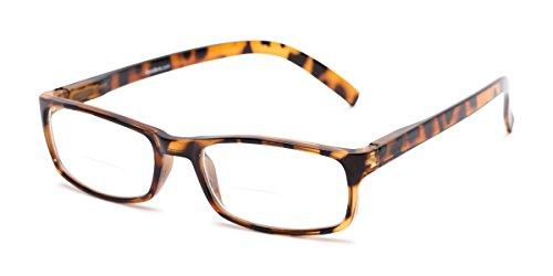 Readers.com | The Vancouver Bifocal +1.00 Tortoise Rectangle Stylish Men's & Women's Full Frame ()